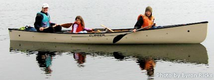 Canoes are great for younger kids